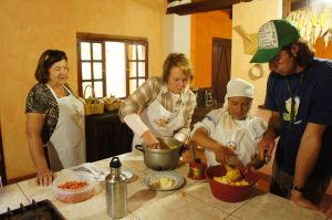 Preparing Delicious Dishes at the Cooking School