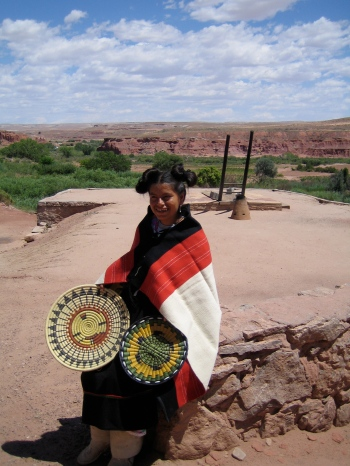 Cristina, dressed as a Hopi maiden