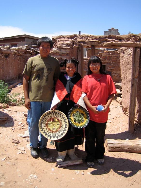Cristina with Hopi friends