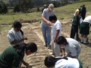 Planting with the Students