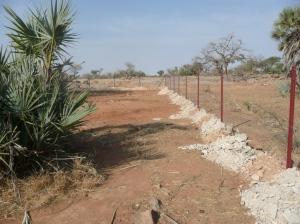 La population netoie et remplie les bordures du pÇrimätre avec les deblais du puits pour renforcer la clìture.