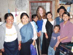 Sara (on the far right) with her family and a Tandana volunteer they hosted.