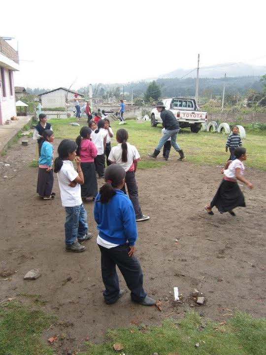 playing with community children