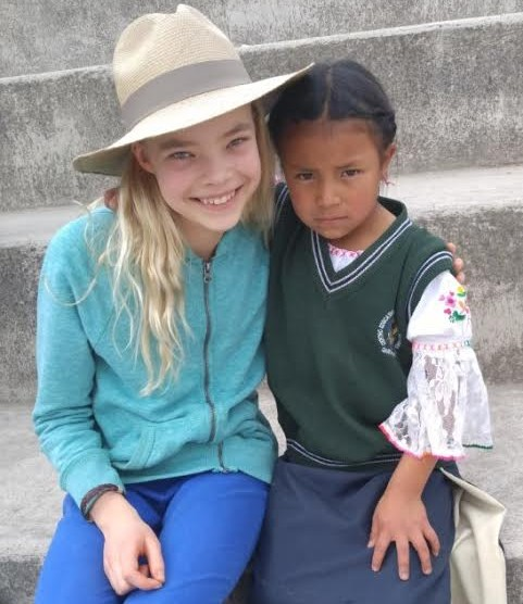 Nola and Hudi, an Ecuadorian student she met during her trip