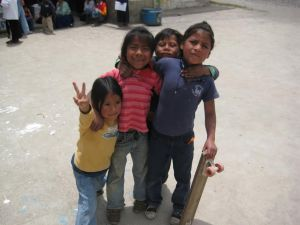 some of the children that Matthew taught how to skateboard