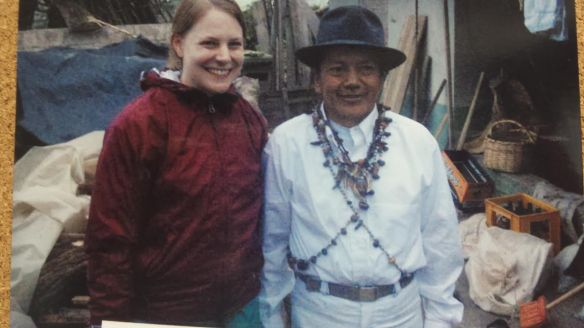 Kelly with a traditional healer in Ecuador