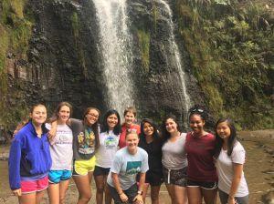 Voluntarios TSC en la cascada Taxopamba