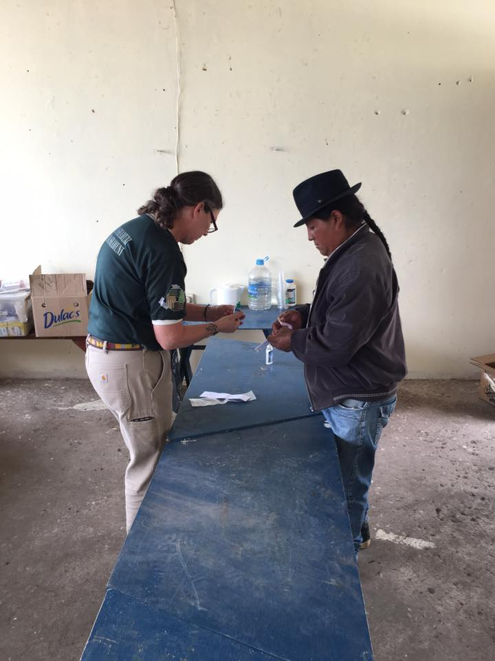 helping a patient in Cambugan
