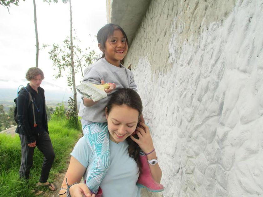 Pintura de Kaitlyn con Maya