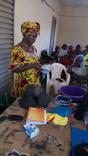 a woman attending the workshop