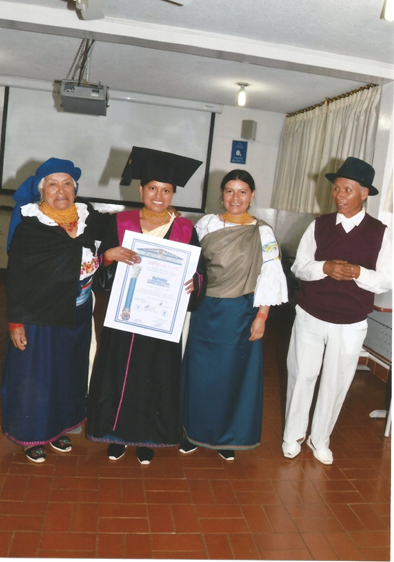 Margarita con su familia